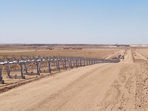 Lote de cintas y máquinas en Proyecto Lavarie de Benguerir, Marruecos