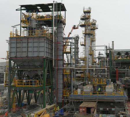 Sistemas de manejo y almacenamiento de azufre sólido en la refinería de La Pampilla
