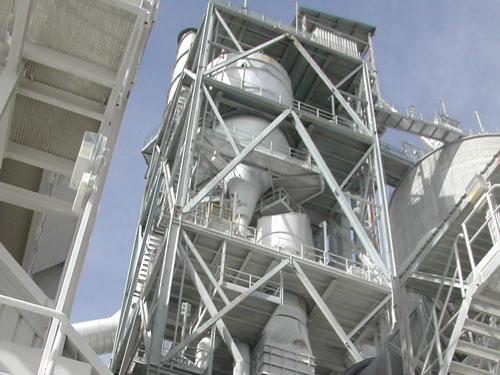 Montaje mecánico nueva línea de cemento blanco en El Alto