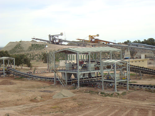 Crushing, screening and storage facility of phosphate, Khouribga, Morocco
