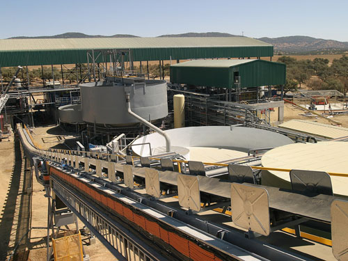 Mineral handling system and processing plant. Aguablanca, Spain