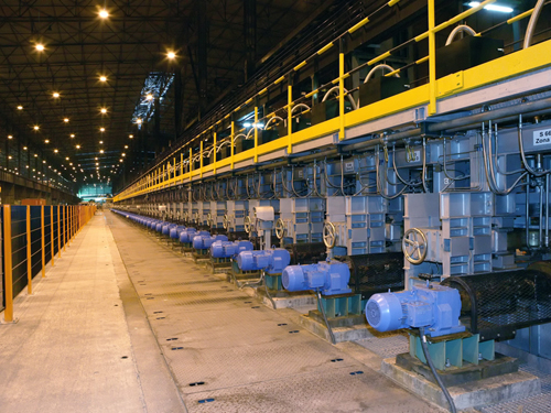 Continuous Head Hardening of Rail (CHHR) machine, Gijón, Spain
