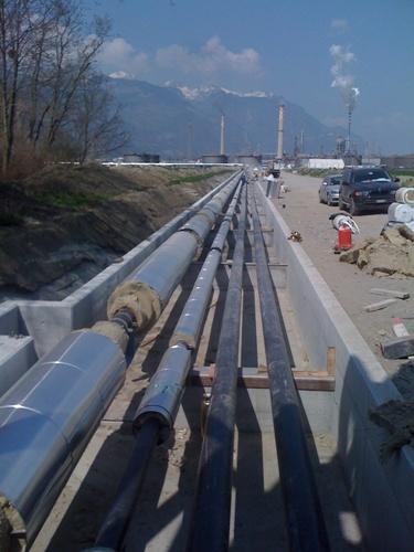Proyecto Interconexión refinería de TAMOIL e incineradora de SATOM en Suiza