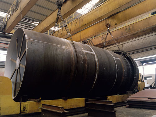 Cylinder for rotatory kiln
