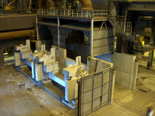 Tilting ladles for deslagging pig iron, LD-A, Avilés, Spain