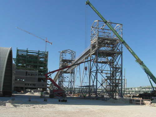 Belt conveyors system and transfer tower in an Integrated Fertilizer plant. (ODI Project)