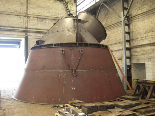 Carcasa del separador para molino de cemento