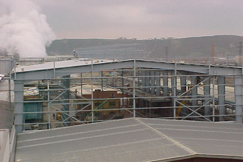 Ash treatment facilities & Industrial plant for eléctrical workshop. Avilés, Spain.