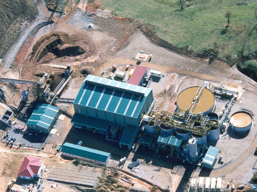 Mineral handling system and processing plant. Asturias, Spain.