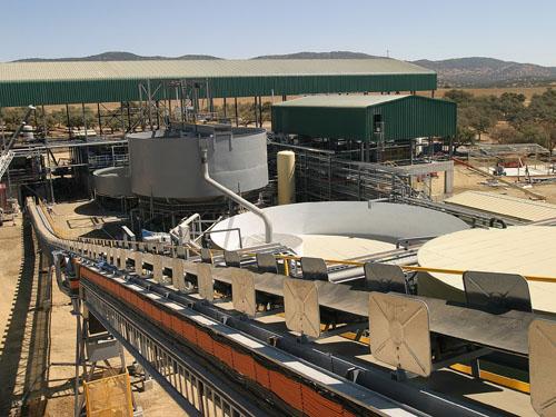 Sistema de manejo de minerales y planta de procesamiento, Aguablanca, España