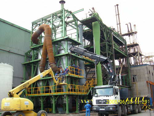 Mechanical erection of the new vacuum unit (VAC)