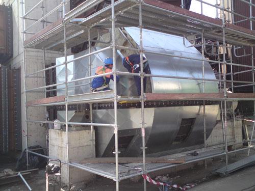 Aislamiento acústico ventiladores planta depuración de humos en la acería de GSW de Santander