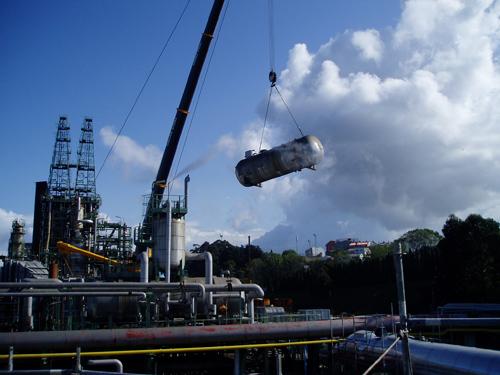 Trabajos metalúrgicos en unidades de coque, serv. auxiliares y vacío II. Parada Conversión 2008